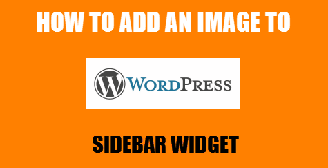 add image to wordpress sidebar widget