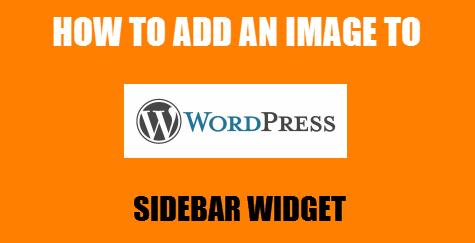 add image to wordpress sidebar widget