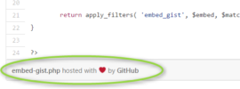 how to embed code using github gist in blog posts