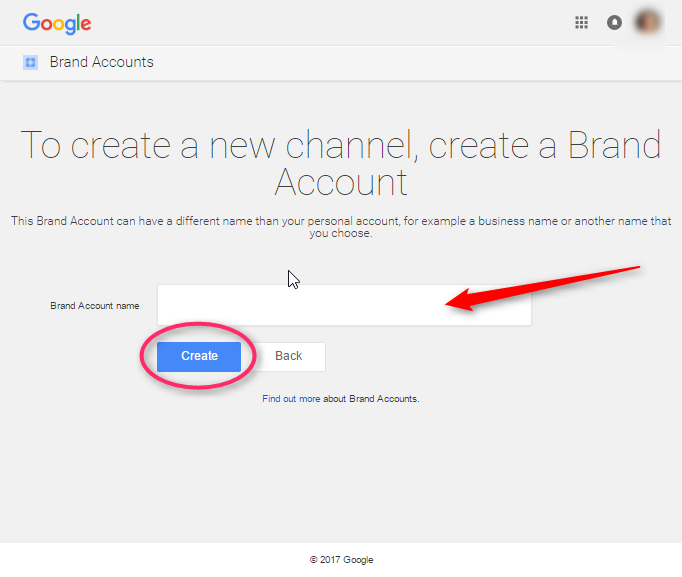 create youtube brand channel